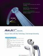 Airjet Handheld Saving Water Shower Head Manufactures