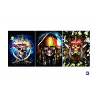 Flip Lenticular 3D Posters With Skull Designs / Lenticular Photo Printing Manufactures