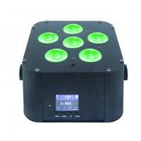 Dj stage light battery quad rgbwa uv 6in1 par light 6x18w battery wireless dmx led uplight for wedding  Manufactures