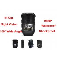 Waterproof 1080P Police Body Mounted Cameras With IR GPS Police DVR 16MP Manufactures