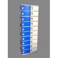 10 Tier Beige / Yellow Charging Station Lockers 2 Layer Cell Phone Charging Lockers Manufactures