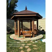 China WPC garden hexagonal gazebo in Kuwait -wood plastic composites material on sale