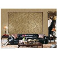 Brown Contemporary Damask Pattern Wallpaper Peelable With 1.06*10m Roll Size Manufactures