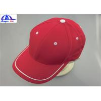 Adult 6 Panles Sports Baseball Caps with Contract color Eyelet , Back Snapback Manufactures