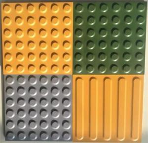 China Full body ceramic yellow warning blind tile brick for metro station on sale