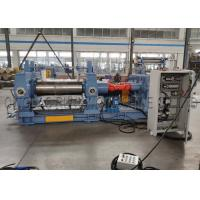 Indsutrial Rubber Mixing Mill Machine 37kw Motor Driving Two Chilled Cast Iron Roll Manufactures