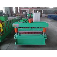 PLC Control Roof Panel Roll Forming Machine 0.3-0.8mm Profile Thickness Manufactures