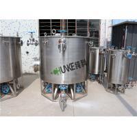 Big Stainless Steel Filter Housing Ss Mixing Tank Easy To Clean High Stability Manufactures