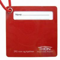 Rigid Hard PVC Luggage Tag with Cotton Strap Manufactures