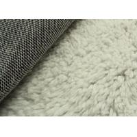 White Color Berber Fleece Sherpa Fleece Fabric Super Soft Warm Cloth Lining Fabric Manufactures