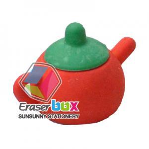 STE018 Tea pot shaped tool TPR art eraser, children gift 3d erasers Manufactures