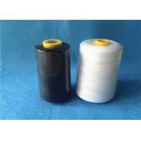 China Waxed 40/2 3000Y 100% core spun polyester sewing thread with black / white color on sale