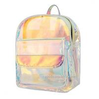 China Non - Toxic PVC Cosmetic Bag , Young Lady Shiny Hologram Transparent Shoulder Bag on sale