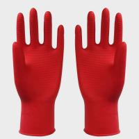 Reusable Children Latex Gloves , Size S , M , L latex household glove Manufactures
