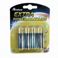 Buy cheap AA 4B Alkaline Battery with 1.5V Nominal Voltage and 1,650mAh Capacity from wholesalers
