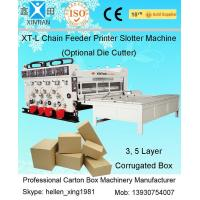 Automatic Slotting Flexo Sticker Printer Machine With Printing Pressing Roller Manufactures