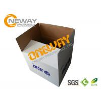 Corrugated Paper Carton Printed Packaging Boxes UVI Hot - Stamping Glossy Surface Manufactures