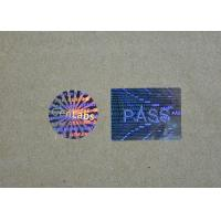 China Laser Hologram Printed Holographic Security Stickers / Shiny Sticker Labels Roll on sale