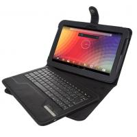 China Leather Covering Black Tablet Case , Detachable Wireless Bluetooth Keyboard on sale