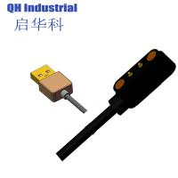 China 2Pin 4.0mm Gold Pd-Ni Plated Ethernet Double Ends Spring Load Pin Magnetic Usb Connectors on sale