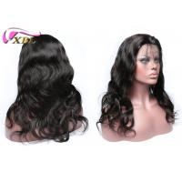 130% Density Natural Human Hair Lace Front Wigs With Adjusted Elastic Band Brown Manufactures