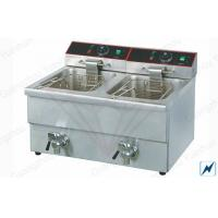 Outdoor Electric Deep Fryer Commercial For Easy Clean , 3.25KW + 3.25KW Manufactures