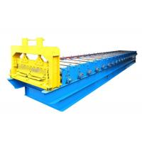 Steel PPGI Roofing Sheet Roll Forming Machine , Strong Frame Standing Seam Roll Former Manufactures