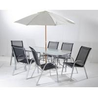 Outdoor Steel Folding Leisure Chairs / Textilene Chair With Table Set Manufactures