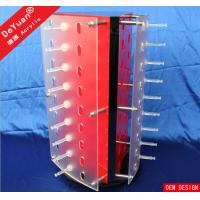 Rotating Glass Acrylic Display Stands Holder Transparent For Office Manufactures