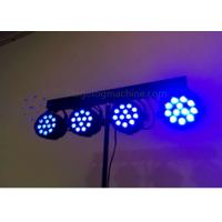 Quality 4 * 12 Pcs RGB / RGBW Party Led Par Can Lights / Sound Activated Stage Lights for sale