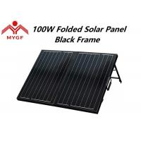 China Black Frame Solar Panels , Solar Power Panels For Camping Easy Operation on sale