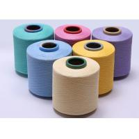 Semi Dull Ring Spun Polyester Yarn Soft Hand Feeling Auto Cone And Dyeing Guaranteed Manufactures
