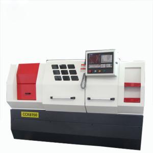 CK6132 CNC Turning Lathe Machine , Mini Lathe Machine 2 Axis Pipe Threading Bar Feeder Manufactures
