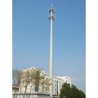25 M Mono Pole Tower , Monopole Cell Tower Custom Q235 / Q345 / Q420 Manufactures