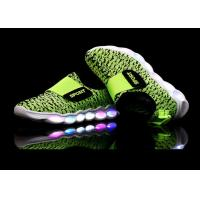 Green Microfiber Upper Kids Sport Shoes LED Light Up Casual Kids LED Shoes Manufactures
