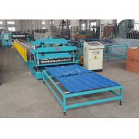 China Pressed Steel Roof Tile Roll Forming Line For PPGI / GI / PPGL / GL Coils on sale