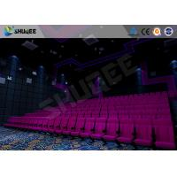 Quality 100 Seats Sound Vibration Cinema Movie Theater Seats Bubble / Rain / Wind / Lightning for sale