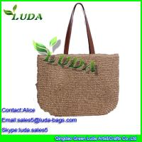 China overnight bag weekend bags leisure tote shoulder paper straw bag on sale
