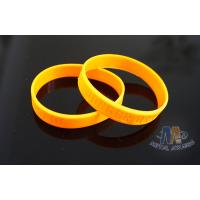 China Custom Plastic Bracelets PVC Wristbands Gold Color With Letters 212mm Size on sale