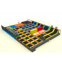 Mall Playground Equipment Kids Trampoline Park With Nylon Mesh And Pearl Cotton Manufactures
