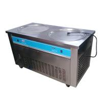 Double Pans Thai Rolled Ice Cream Machine , Flat Ice Cream Maker 2000W Manufactures