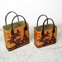 Gift Basket Faux Leather Tote factory tote basket storage as gift basket Manufactures