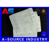 7 * 10 Cm White Plastic Sleeves Aluminum Foil Bags Zip Lock Pounch For Capsules Manufactures