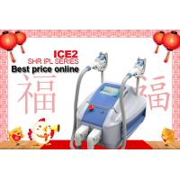 China 2 Handpieces SHR IPL Machine Permanent Hair Removal , Portable  SHR IPL Permanent Laser Hair Remover on sale