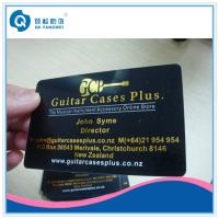 Gold Plastic Business Card Printing Hot Stamping Foil PVC Business Cards Manufactures
