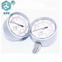 China Filled Oil Dry Type Back Entry Bottom Connection High Gas Pressure est Gauge on sale