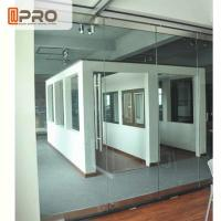 Frameless Modern Office Partitions Clear Color 5/8/12MM Glass Thickness Manufactures