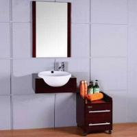 China Commercial Painting PVC Bath Vanity with Single and Fashion Style, Hanging Way for Muslim Market on sale
