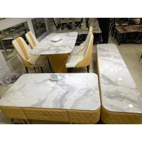 China Clear Textured Marble Top Tv Cabinet Alkali Resistant For Family House on sale
