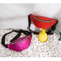 China WHOLESALES Leather Waist Bags Fanny Packs for Women Supreme Purse Wallets Simple Design-Solid Color waist bag Supplier on sale